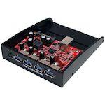 StarTech.com USB 3.0 Front Panel 4 Port Hub - 3.5 5.25in Bay